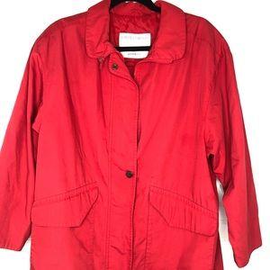 London Fog Limited Edition Red Rain Coat Reg. Med
